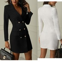 Fashion Womens Lady Slim Long Sleeve Coat Jacket Lapel Outwear Coat Autumn Winter V neck Outcoat