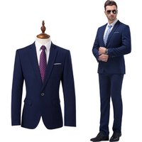 Mens Slim Fit 2 Piece Suit One Button Blazer Tux Vest