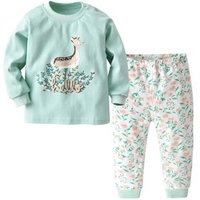 Hot sale cartoon 100% cotton baby clothing sets