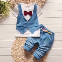 2018 Summer Spring Cotton Boys Clothing Set Childrens Vest Two-piece-suit Shorts Kidss Wear