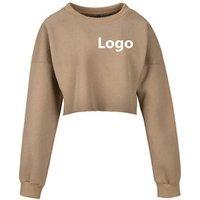 Low Moq Custom Private Logo Women Crop Top Pullover Hoodies