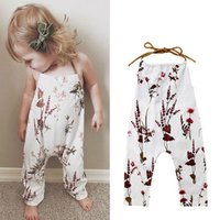 Hot Sale Newborn Infant Baby Girls Floral Rompers Tassel Baby Girls Clothing Summer Baby Costumes