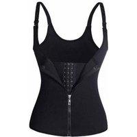 Womens body with zipper abdomen court corset neoprene 3 layer patch wicking vest corset