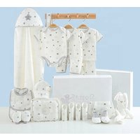 GS0501 Baby gift box pure cotton suit newborn short sleeve triangle jumpsuit