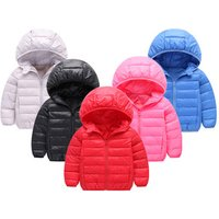 Custom New Winter Duck Down Jacket For Boys Girls Jackets Light Coat 2-10Y Kids Clothes Outdoor Hooded Coat Children Down Jacket