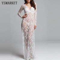 maternity photography prop maxi gown pregnant women cloth pajamas lace nightgown Dress Fancy baby shower dress Plus size 3xl 4xl