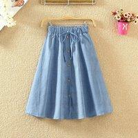 F20805A  2019 summer Long denim skirt with high waist  for women