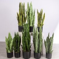 Cheap artificial plants bonsai home decor garden decoration green plants artificial sansevieria wholesale custom inventory