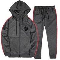 2019 stock unique custom logo black and gray winter wear man track suit