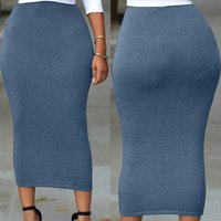 Spring Autumn Women Long Pencil Skirt Black High waist Bodycon Office Skirts E71188 Brief Maxi Skirt for Work Wear 30%