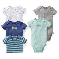 Baby short sleeve rompers infant clothing toddler boy girl wholesale baby bodysuit