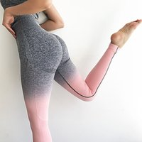 Ombre Gym Leggings Women Seamless Leggings Booties Push Up Sport Yoga leggings High Waist Fitness Workout Pants For Women Sports