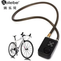 wholesale supplier security motorcycle bike gate steel cable keyless anti theft alarm 4 digital bicycle lock with password