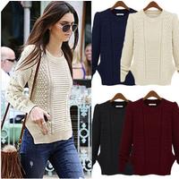 Knitwear Women Casual Long Sleeve Jumper Cardigan Coat Jacket Sweater Pullover