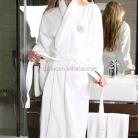5 Star Luxury Hotel Cotton Terry embroidery logo bath robe