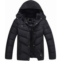 mens winter waterproof windproof padded parka jacket with fur lining