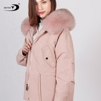 Brand Women Winter 2019 Casual Ladies Jacket Warm Fox Fur Parka Coat