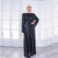Sequined Dress Evening Dress Cardigan Dress Middle East Fashion Sequined Gown Islamic Abaya