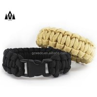 'Paracord Bracelet With Buckle Survival Gear Kit Hunting Accessory Charm Outdoorsmen Military Army For Men And Women