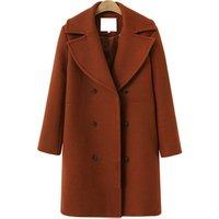 Custom long woolen overcoat/coat/winderbreaker women suit