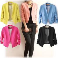 Autumn Women Blazers Jackets Work Office Lady Suit Slim None Button Business Female Blazer Coat Y10774