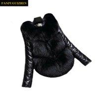 Fur wholesale autumn and winter womens short paragraph detachable sleeves faux fur coat