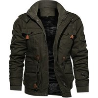 Men Casual Lined Army Bomber Jacket Military Tactical Fleece Winter Coat Jacket