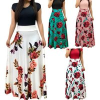 Women Floral Maxi Dress Prom Evening Party Dresses Women Summer Beach Casual Long Dresses Women