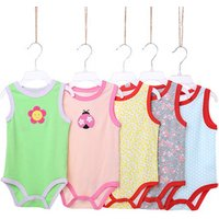 New arrivals hot sale baby clothing set 5 pieces pack cartersbluefly baby cotton sleeveless bodysuit