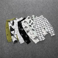 Dinosaurs baby harem pants organic clothes leggings cotton trousers exclusive children wear