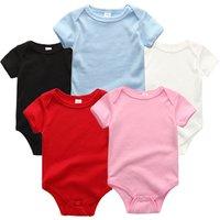 2018 5 colors sleeveless Sleeve Plain clothing custom Baby Bodysuit baby clothes romper onesie