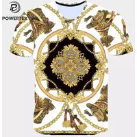 'Hot Sale Brand New Fashion Summer Men T-shirt 3d Print Nightmare Tiger Short-sleeved Casual Tops Tees Men's Plus Size Shirts