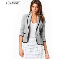 Fashion Plus Size grey blazer suits high street fashion womens blazers ladies brand jacket clothing two button cardigan Coat