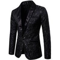 Mens Floral Party Stylish Dinner Jacket Wedding Men Blazer Prom Tuxedo Dress Suit