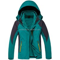 Custom Mens Outdoor Ski Jacket Windproof Waterproof Hiking Jacket with Polar fleece inner Winter