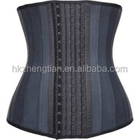 Latex Waist Training Cincher Corset 25 Steel Boned Workout Body Shaper For Women
