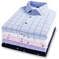 New Mens Fashion Button Down Formal Long Sleeve Plaids Check Dress Shirts