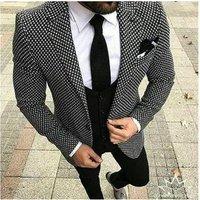 Fashional African Slim Fit 3 Pieces Mens Bridal Male Plus Size S to 5XL Blazer +waistcoat+pants+bowties Groom Men Suit MMA365