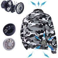 Casual Camouflage 5V Battery Power USB Fan Cooling Jacket with Detachable Fans
