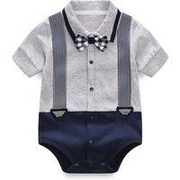 High quality 100%  organic cotton baby boys clothing romper  newborn jumpsuit  wholesale price