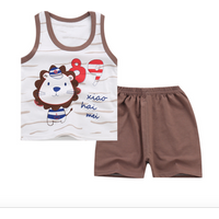 Summer Baby boys Clothing Set Children vest Shirt+Shorts Clothes Set Suit