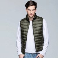 Wholesale Fashion Waistcoat Lightweight Down Jacket Winter Men Custom Warm Sleeveless Clothing  Mens Down Vest