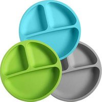 Portable Reusable Baby Feeding Bowl Plate Silicone Dining Table Mat Food Grade Silicone Bowl Mat
