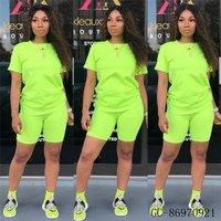 GC-86970921 Wholesale  African  Summer sport custom neon green women designer track jogging suit