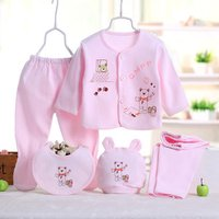Newborn Baby Clothes Set Infant Toddler Age Group 0-3 Months 5 Pcs 10% Cotton Baby Clothes Sets Clothing Ropa Bebes Boys Girls