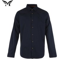 Plain dyed single button 100% cotton wholesale long sleeve blank dress shirts for men