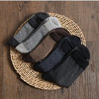 Big stock business breathable hand crew knitted cotton black work dress men sock