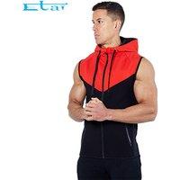 Gym Fitness Sweatshirt Jacket Sleeveless Hoodie Zip Up Sleeveless Zip Hoodie For Men