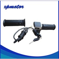 NEW 24V/36V/48V E-Bike Twist Hall Throttle with LED display of battery power Electric bicycle kits