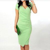 knee length career office sexy dress lady formal designs frocks/ladies formal pencil pictures office dress latest for women